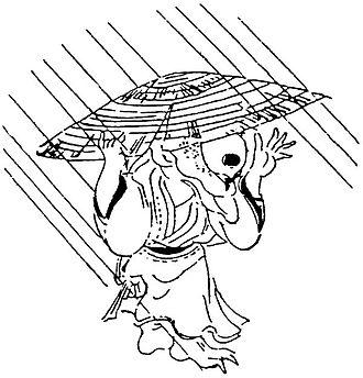 "Amefurikozō - The amefurikozō that appeared in ""Gozonji no Bakemono"" illustrated by Utagawa Toyokuni"