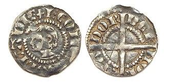John I, Count of Holland - Holland, penny or 'kopje' with portrait of John I, Count of Holland.