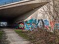 Graffiti in de voormalige spoorweg tunnel onder de A7 bij Marum.jpg