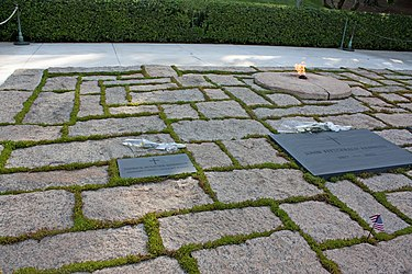 Graves of John F. and Patrick Kennedy in Arlington National Cemetery.jpg