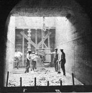 Great Falls Dam (Tennessee) - Construction of the dam's diversion tunnel
