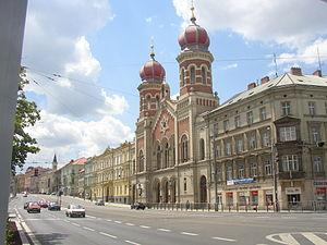 Great Synagogue (Plzeň) - Image: Great Synagogue Plzen CZ general view