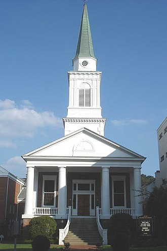 Greeneville, Tennessee - First Presbyterian Church, founded by Rev. Hezekiah Balch and Samuel Doak in 1780