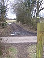 Greensand Way crosses Knowle Hill Lane - geograph.org.uk - 1189044.jpg