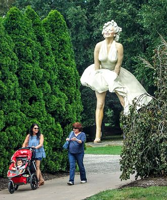 Grounds For Sculpture - Forever Marilyn on display during the Seward Johnson retrospective