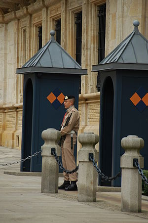 Grand Ducal Palace, Luxembourg - Guard in front of the Palace, Luxembourg.