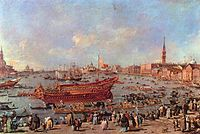 Guardi,Francesco - The Departure of Bucentaur for the Lido on Ascension Day.jpg