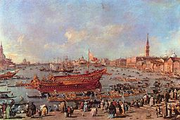 Guardi,Francesco - The Departure of Bucentaur for the Lido on Ascension Day