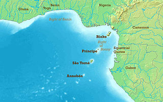 The northeasternmost part of the tropical Atlantic Ocean between Cape Lopez in Gabon, north and west to Cape Palmas in Liberia
