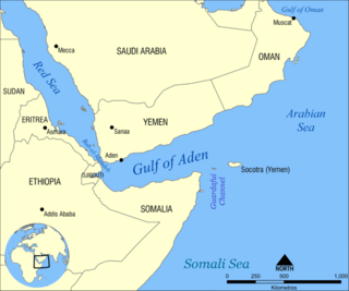 Gulf of Aden A gulf between the Horn of Africa and Yemen in the Arabian Peninsula
