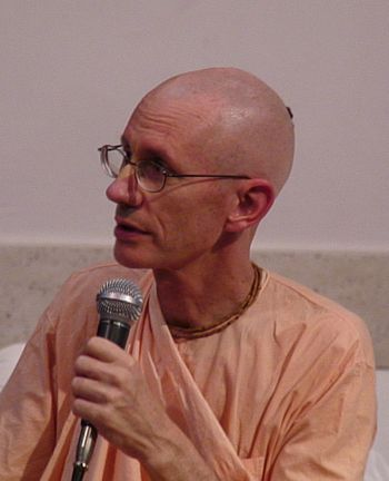 English: Guru-prasada Swami speaks at Bhakti T...