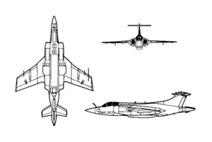 Orthographic projection of the Blackburn Buccaneer