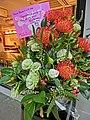 HK 上環 Sheung Wan evening 差館上街 11 Upper Station Street restaurant Nosh Tai Ping Shan Street Nov-2013 red white flowers.JPG