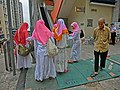 HK Sai Ying Pun Third Street near Centre Street Indonesian clothing visitors Apr-2013.JPG