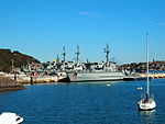 HMAS Diamantina and other Huon class MHCs at HMAS Waterhen in September 2012.jpg
