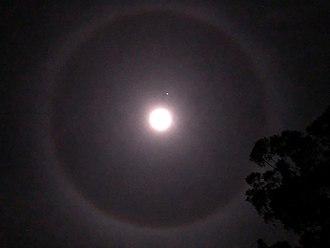 22° halo - Halo Moon - Springfield NSW - Australia - 27/05/18