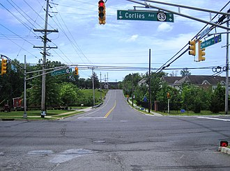 Hamilton, Monmouth County, New Jersey - At the intersection of West Bangs Avenue (CR 17) and Route 33