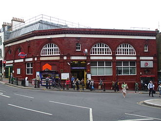 Hampstead tube station - Station building in 2008