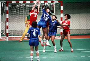 Korean Air Flight 858 - Image: Handball at the 1988 Summer Olympics