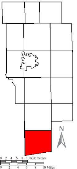 Location of Hanover Township in Ashland County