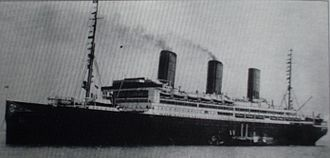 SS Leviathan - Vaterland in her original HAPAG livery.