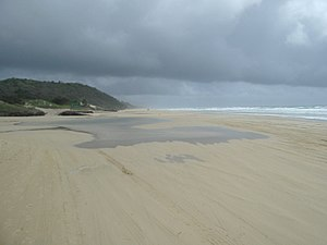 Happy Valley, Queensland (Fraser Island) - Beach at Happy Valley, 2004