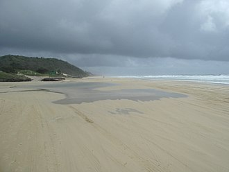 Happy Valley, Queensland (Fraser Island) - Beach at Happy Valley, 2004