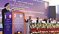 Hardeep Singh Puri addressing the gathering at the foundation stone laying ceremony for the International Exhibition-cum-Convention Center and Integrated Transit Corridor Development Project, at Pragati Maidan, in New Delhi.jpg