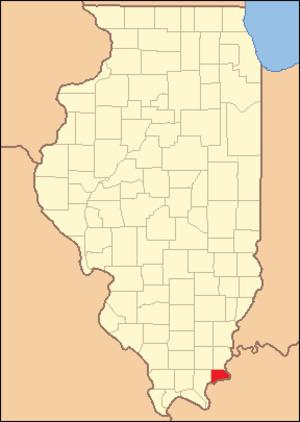Hardin County, Illinois - Image: Hardin County Illinois 1847