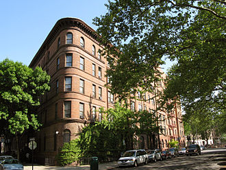 Harlem - Apartment buildings next to Morningside Park