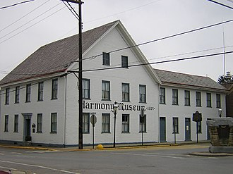 Harmony Society - Harmony Society building in Harmony, Pennsylvania, built in 1809.