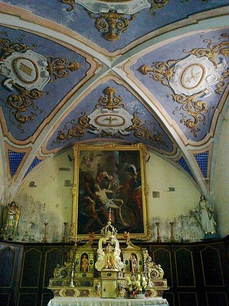 Hautes Alpes Arvieux Eglise Catholique Choeur