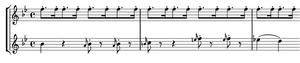 Symphony No. 83 (Haydn) - Image: Haydn 83 I second theme