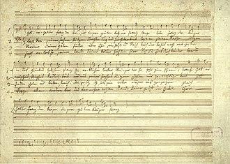 Gott erhalte Franz den Kaiser - Image: Haydn Kaiserlied Skizze