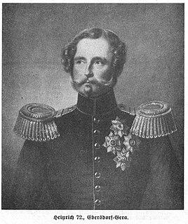 Heinrich LXXII, Prince Reuss of Lobenstein and Ebersdorf German prince (1797-1853)