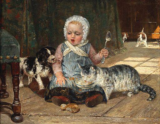 Heinrich Schaumann Hund und Katz