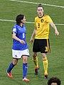 Heleen Jaques e Daniela Sabatino, Italy vs Belgium women's, Ferrara 2018-04-10 01.jpg