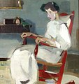 Helene Schjerfbeck - On the rocking chair (1910).jpg
