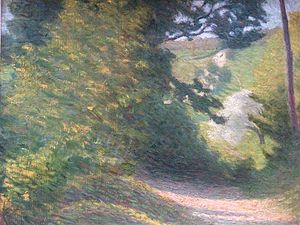 Henri Beau - Chemin en Été (Path in Summer), Beau 1895. Early Impressionist landscape painted while he was a student in Paris.