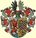 Herb Lwówka Śląskiego z 1501 roku nadany przez Władysława II Jagiellończyka na pocztówce z XX wieku.jpg