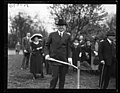 "Herbert Hoover breaking ground in Sherman Park for replica of the ""Home Sweet Home"" owned by John Howard Payne, Lind Island LCCN2016892246.jpg"