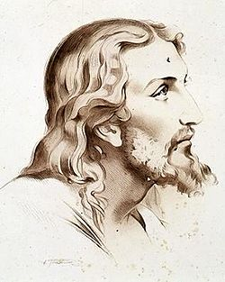Kristusbillede tegnet af Hermann Mayer Salomon Goldschmidt