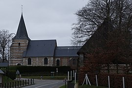 The church in Hermeville