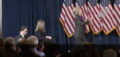Hillary walking on stage to deliver her concession speech 03.png