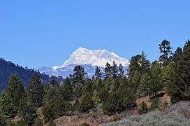 Himalayan peak from Bumthang