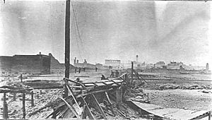 Great Hinckley Fire - Image: Hinckley, Minnesota after the 1894 fire