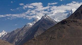 Hindu Kush Mountain range near the border of Afghanistan and Pakistan