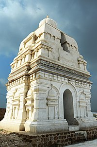 Hindu Temple near Budhist Stupa at Katas Raj Temple.JPG