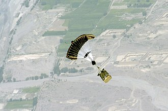 Joint Precision Airdrop System - JPADS bundle descends to its preprogramed drop zone over Afghanistan, circa 2006