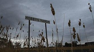 Hobbys Yards, New South Wales - A sign greets visitors to Hobbys Yards